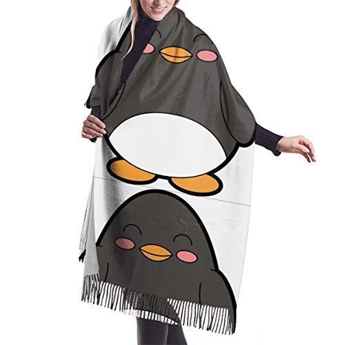 Bufanda de mantón Mujer Chales para, Mujeres Hombres Pingüino gordo Bufanda de cachemira Cómoda chal Abrigo Bufanda Invierno Cálido Bufandas acogedoras