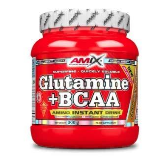 Amix Glutamine + BCAA 300 gr - frutas del bosque (glutamina + bcaas)