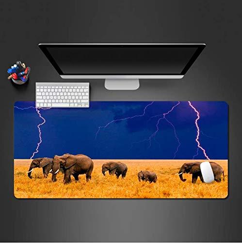 De Afrikaanse olifant muismat voor game spelers S game pad computer kantoor toetsenbord ultradun slot bijzettafel matten 30 * 80 cm