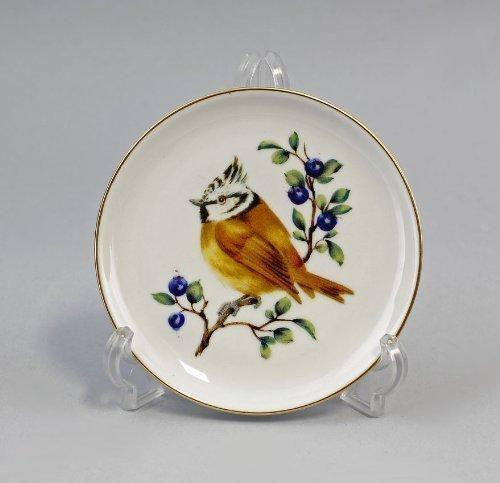 Bildteller haubenmeise dessous-de-plat en porcelaine