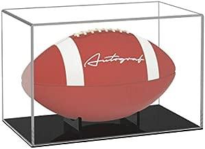 FEMELI Football Display Case Acrylic Box Holder for Full Size Football