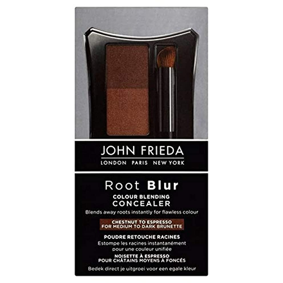 オーブン革新打たれたトラック[John Frieda ] 90グラムのエスプレッソするコンシーラー栗をブレンドジョン?フリーダルートぼかし色 - John Frieda Root Blur Colour Blending Concealer Chestnut to Espresso 90g [並行輸入品]