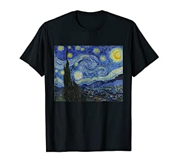 Starry Night by Vincent van Gogh   Famous Painting T-Shirt