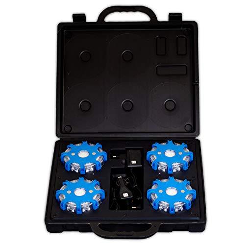 Powerflare Plus Koffer inkl. 4 LEDs mit Akku und Ladegerät (12V/220V) in blau