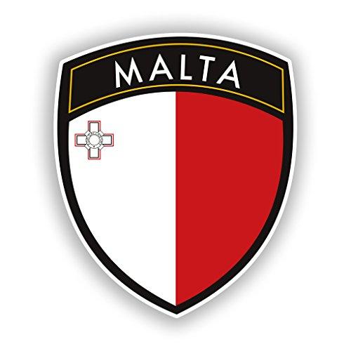 2 x 10cm/100mm Malta Badge Vinyl Stickers Travel Luggage #10419