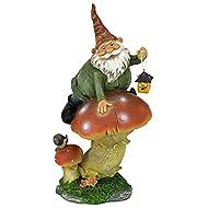 Design Toscano Mushroom Lantern Statue