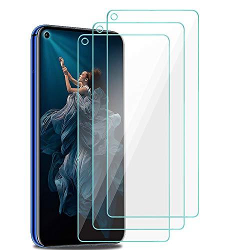XinYue - 3 Stück - Panzerglas für Huawei Nova 5T / Honor 20, Huawei Nova 5T / Honor 20 Schutzfolie, Anti-Öl Anti-Staub Keine Blasen 9H gehärtetes Glas