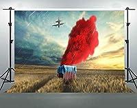 写真撮影用HDPubgビデオゲームの背景10x7ftソフトコットン荒野エアドロップ背景テーマパーティーの装飾バナーYouTube写真撮影の小道具LHFS1264