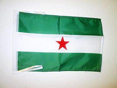 AZ FLAG Bandera de Andalucia ARBONAIDA 45x30cm - BANDERINA INDEPENDENTISTA ANDALUZA - NACIONALISMO Andaluz 30 x 45 cm cordeles