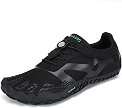 SAGUARO Mens Womens Barefoot Trail Running Shoes Zero Drop Gym Walking Beach Hiking Waterfalls Aqua Sports Pool Surf Quick Dry Water Shoe Black