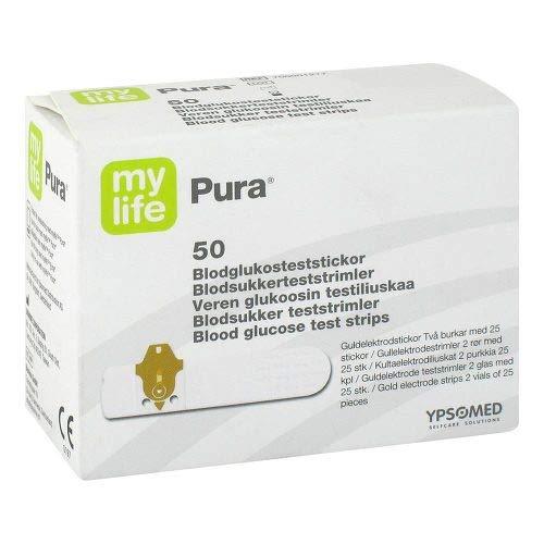 MYLIFE Pura Blutzucker Teststreifen 50 St