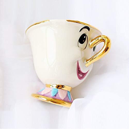 Yxxc Juego de té La Bella y la Bestia de Dibujos Animados Juego de té Mrs Potts 'Son: Chip Cup Té Café Linda Taza de cerámica Porcelana Encantador y creati