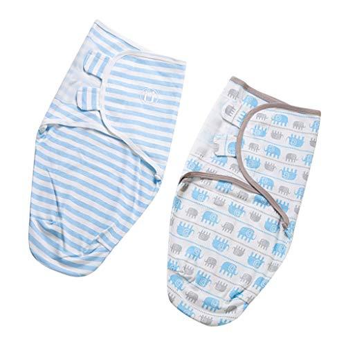lahomia Lindo Bebé Recién Nacido Infantil de Algodón Swaddle Wrap Manta Suave Bolso Muselina Encantador - L, Elefante