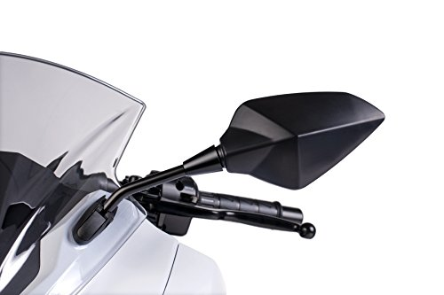 Puig 7343C RS1 Wing Mirror, Left Side, Dome-Shaped Mounting, Certified, Carbon Colour