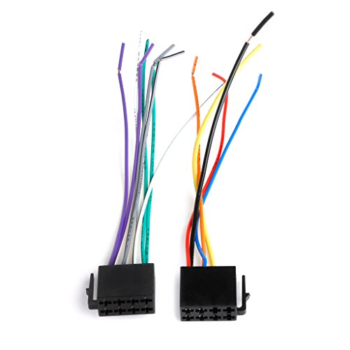 GROOMY Kit de Prise de câble de connecteur d'adaptateur d'autoradio pour Le câblage électrique Femelle ISO Universel