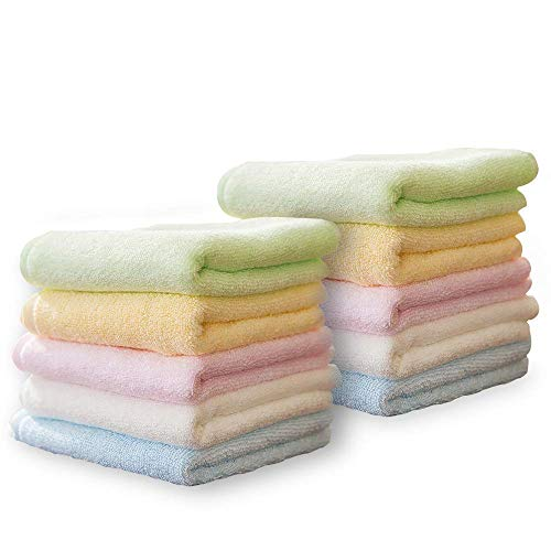 Yoofoss Toallas Pequeñas, Toallas Bambú Multicolores Juegos de Toallas de Bebé/Cara/Facial/Mano/Baño, Paños de Limpieza/Cocina