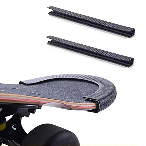 IWONDER Skateboard Deck Guards Protector, Longboard Edge Protection,Deck Bumper Strip, Durable Shock Absorbing Rubber Cover with Grip Nose Guard and Tail Guard for Kids,Boys,Grils,Youths,Beginners