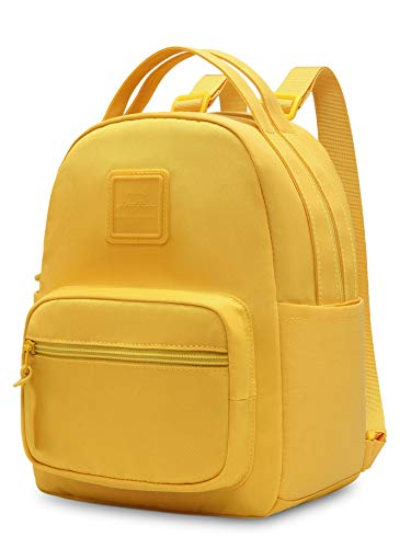 ETTASA Small Backpack for Women & Girls, Little Mini Back Pack Purse Cute for Work, Trip and Everyday, Warm Yellow