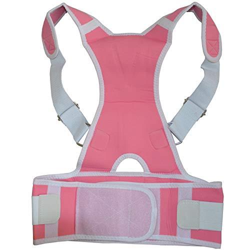 WDDGPZJD Corrector de Postura Niños Adultos Corsé Columna Vertebral Brace Cinturón TraseroAjustable Parte Posterior Superior Apoyo para El Hombro Postura Corrector Ortesis Atrás