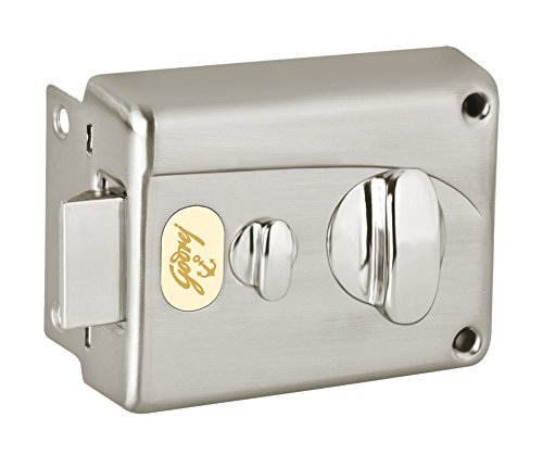 Godrej Locks Night 1CK Inside Opening Pin Cylinder Technology (Brushed Steel)