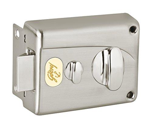 Godrej Locks Premium Night 1CK Inside Opening Pin Cylinder Technology (Brushed Steel)
