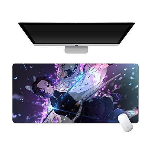 Anime Alfombra De Ratón Anime Demon Slayer丨800X300Mm丨Almohadilla De Rubbe Durable丨Estera De Teclado Estera De Escritorio Computadora Tableta Juego Mouse Pad-C_900*400 * 3MM