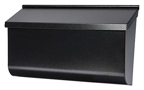 Gibraltar Mailboxes Woodlands Medium Capacity Galvanized Steel Black, Wall-Mount Mailbox, L4010WB0,Textured Black