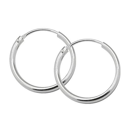 SoulCats® Creolen aus 925 echt sterling Silber, Durchmesser: 16 mm