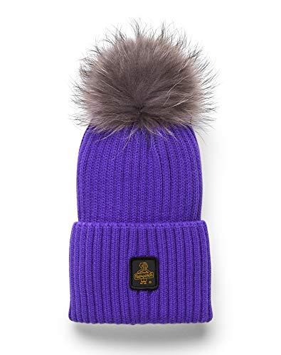 cappello refrigiwear RefrigiWear - Berretto con pompon in pelliccia SNOW FLAKE morbido e confortevole per uomo e donna (Taglia Unica)