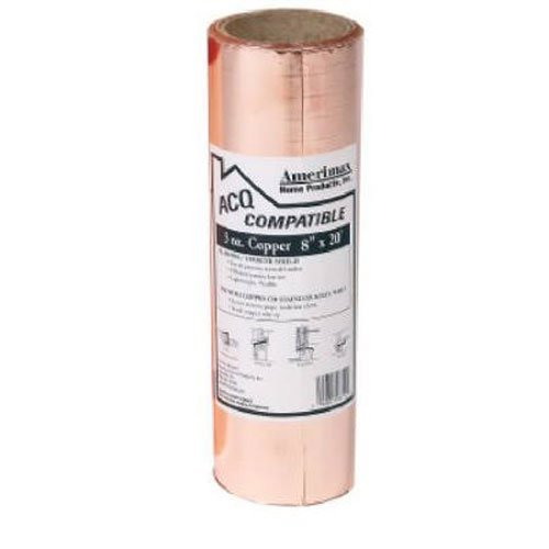 AMERIMAX HOME PRODUCTS 850678 8-Inch x 20-Feet Copper Flashing by Amerimax Home Products