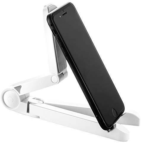 iBLUNT Multi-Hoek Draagbare Universele Plaat Beugel Stand 7-10 inch Zwart Wieg compatibel met Iphone 11 pro max XS XR Note 10 plus OnePlus 7T pro Ipad Mini 4 5 9.7 inch Tabletten - Wit