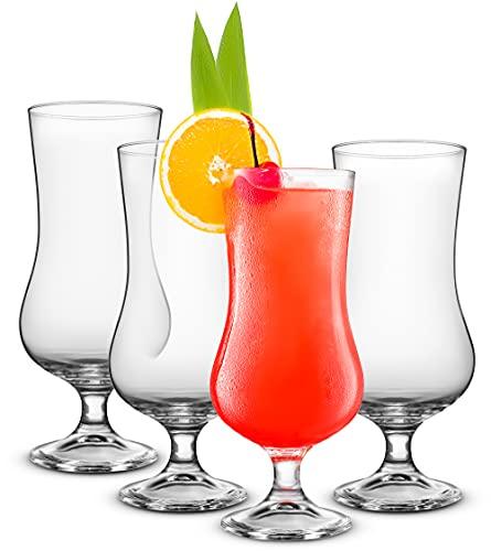 Set of 4 Cocktail Glasses Tulip Hurricane Glasses