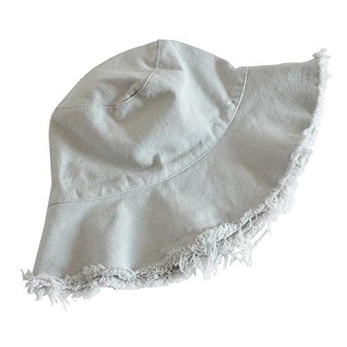Drawihi Raw Fischerhut für den Sommer, einfache einfarbige Schicht, unisex, für Outdoor, Urlaub, Sonnenschutz, Angeln, 56–58 cm Gr. Einheitsgröße, grau