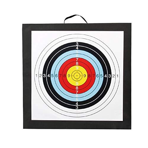 Star Eleven Objetivo profesional ligero para ejercicio al aire libre con tiro al arco, de espuma EVA, autorreparación, 50 x 50 x 5 cm, cinturón de objetivo de flecha 1 papel