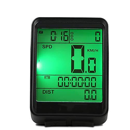 Fahrrad-Tachometer MTB Fahrrad Stoppuhr Drahtlose Stoppuhr Luminous wasserdichte REIT Speedometer Speedometer REITAUSRUSTUNG Schwarz Fahrrad Stoppuhr (Color : Black, Size : One Size)
