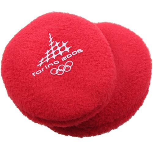 Earbags Olympische Spiele Ohrenwärmer Mütze Warm Torino 2006 Vancouver 2010 Ohren Stirnband, EBOS0610, Farbe Torino 2006 Rot B, Größe M