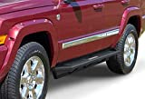 APS Off-Road Side Steps Armor Compatible with Jeep Commander 2006-2010 & Jeep Grand Cherokee 2005-2010 iArmor Aircraft Aluminum Off-Road Black Side Steps Armor