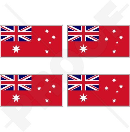 Marchand Australie Red Ensign Drapeau australien 5,1 cm (50 mm) en vinyle Bumper Stickers, Stickers x4