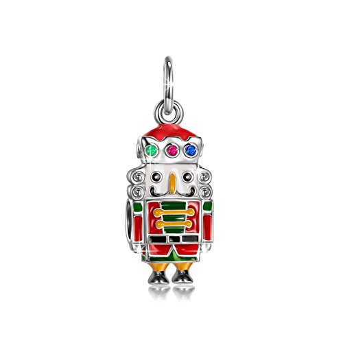 NINAQUEEN Charm fit Pandora Charms Nutcracker Doll Pendant Women's Jewellery Best Gifts with Jewellery Box 925 Sterling Silver Antibacterial Properties