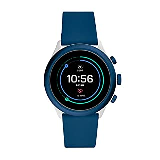 Fossil Men's Sport Heart Rate Metal and Silicone Touchscreen Smartwatch, Color: Grey, Navy Blue (Model: FTW4036) (B07WFWGLJJ) | Amazon price tracker / tracking, Amazon price history charts, Amazon price watches, Amazon price drop alerts