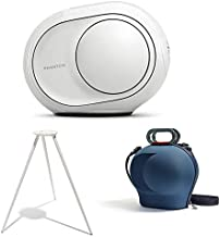Devialet Phantom Reactor 600 Watts - 95 dB Bundle with Devialet Legs in White and Devialet Cocoon Case in Blue (3 Items)