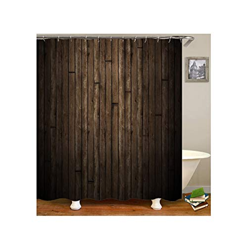 Dreamdge Duschvorhangs Badezimmer Wasserdicht Mehltau Beweis, Duschvorhang 90X180 Mit 12 Haken Dunkelbraun