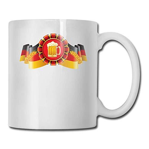 Lustige Kaffeetasse Deutsche Flagge und Bier Kaffee Teetasse Einzigartiges Festival Geburtstagsgeschenk für...