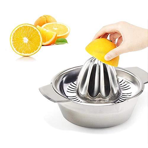 Exprimidor Manual Portátil - Con Filtro Extraíble - Herramienta de Exprimido Manual de Acero Inoxidable - Extractor de Exprimidor de Limón - Para Cítricos,Limón,Naranja,Fruta - Suministros de Cocina