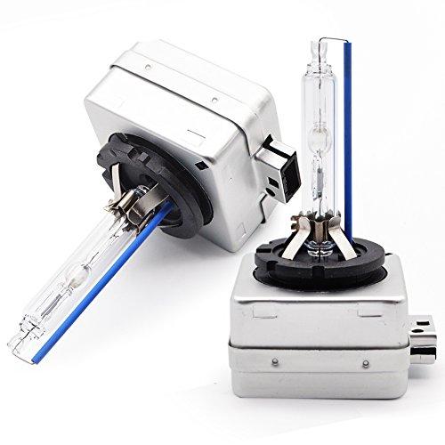 D1S Xénon HID Ampoule Lampe Phare 8000K - Kashine Voiture Lumière 35W Blanc Froid Remplacer pour Halogène ou LED Ampoule Extérieures 12V(2 pièces)