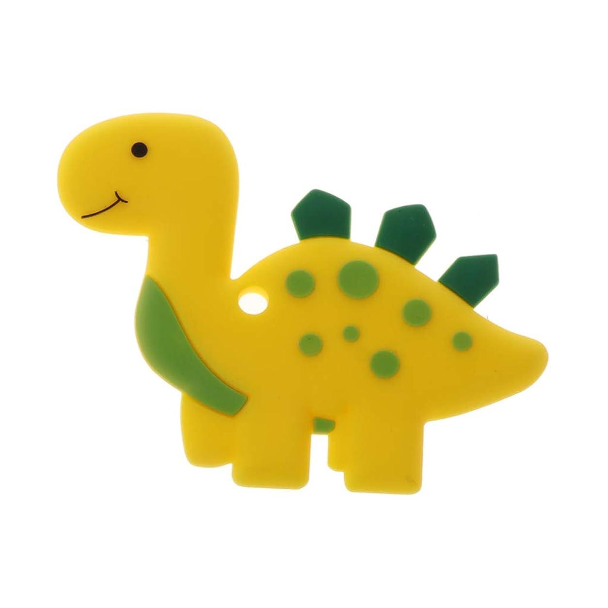 ギャンブル厚さ天のLanddumシリコーンおしゃぶり恐竜おしゃべり赤ちゃん看護玩具かむ玩具歯が生えるガラガラおもちゃ - ロイヤルブルー