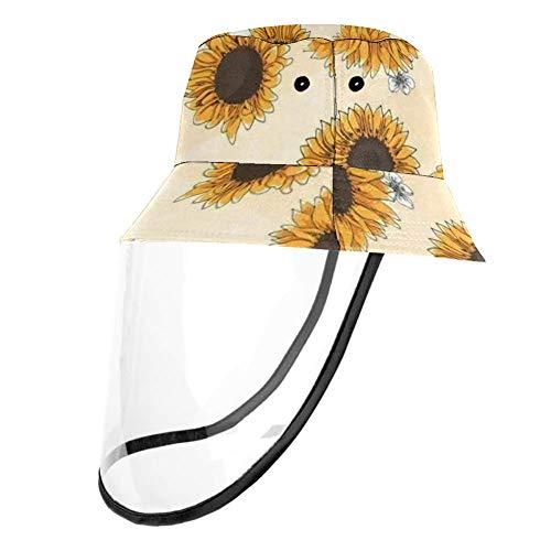 VFSS Sonnenblumen-Schutzmütze, Anti-Spuck-, Anti-Saliva-, Nasen- und Mundschutz für Damen und Herren, Mehrfarbig1, Head Circumference 22.6 In(57. 5cm)