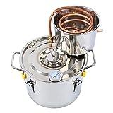 Destilador Casero De Bricolaje Caldera De Acero Inoxidable Cobre,2 gallonen