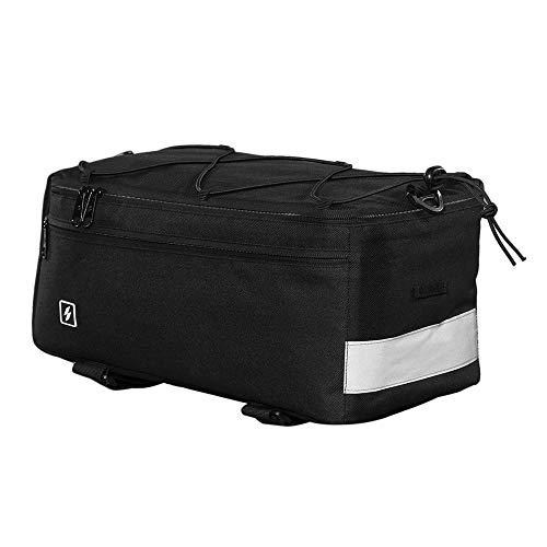 A1-Brave Multi-Funktions-Radfahren Insulated Trunk Kühltasche Fahrrad-Rücksitz-Beutel-Gepäckträger Gepäcktasche Radfahren Zubehör (Color : Black)