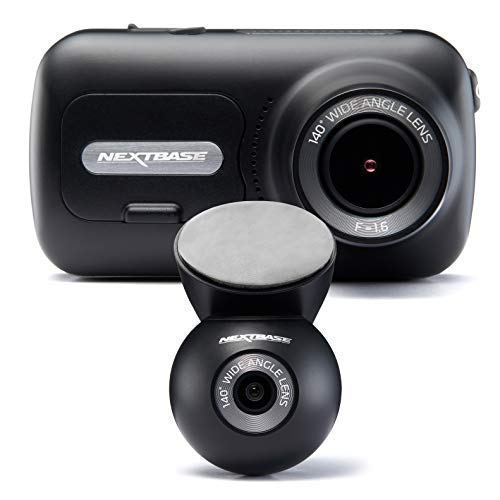 Nextbase 322GW Dash Cam Front and Rear Camera- Full 1080p/60fps HD In Car Camera- Wi-Fi Bluetooth GPS- SOS Emergency Response, Intelligent Parking Mode, G-Sensor- 140°+ 140° Wide Viewing Angle